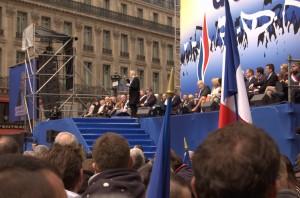 Jean-Marie piquait un peu du nez pendant le discours de Marine.