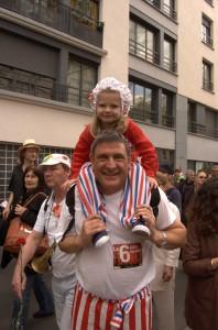 Le défilé s'est déroulé dans une ambiance bonne enfant, sans incident notable.