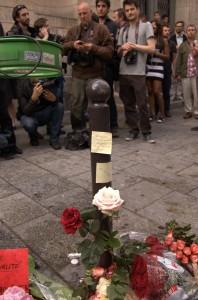 C'est en se cognant sur ce poteau que Clément Méric a perdu la vie.