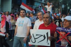 Des manifestants anti-Morsi fin juin 2013 (Photo: Lilian Wagdy Licence CC)