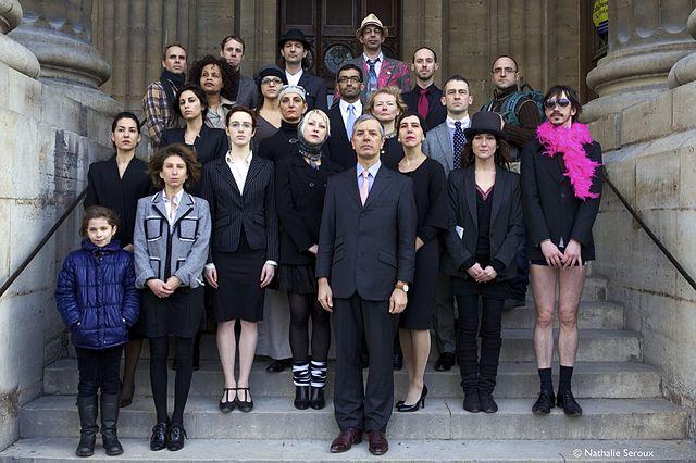 Gaspard Delanoë s'était déjà présenté lors des élections présidentielles de 2012 et avait même présenté son gouvernement aux Français.Crédit : Licence CC, Nathalie Seroux.