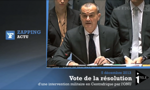 Vote de la résolution pour une intervention militaire en Centrafrique.
