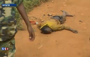 Cadavre d'un jeune garçon, possible anti-balakas victime d'ex-Sélékas