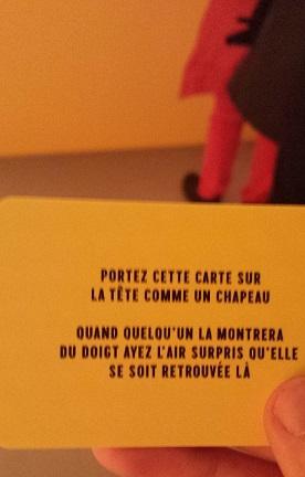 """A l'entrée, vous recevez une carte """"défi"""" à réaliser lors de votre visite (Photo: Antoine Ballet/Parlonsinfo)"""
