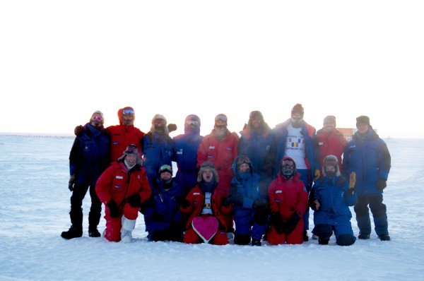 L'équipe Concordia au début de l'hivernage profond. (Photo droit réservé/ source: Anne-Marie Courant)