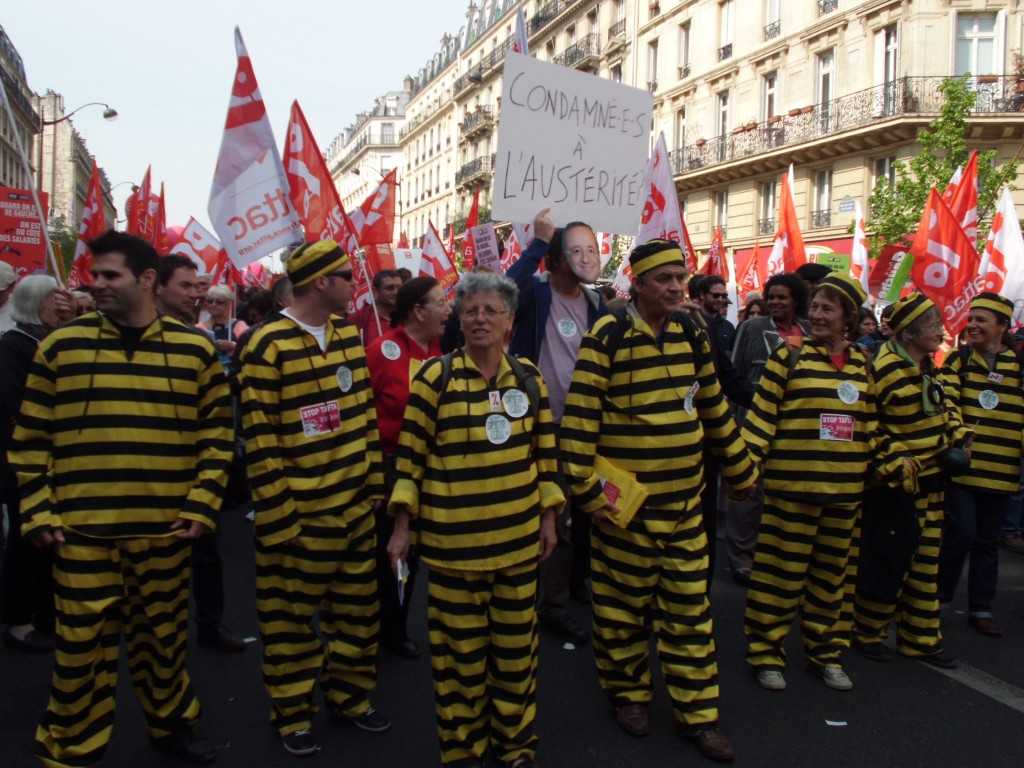 """Les Daltons de la manifestation """"maintenant ça suffit"""" du 12 avril 2014"""