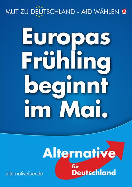 Affiche du parti allemand AfD