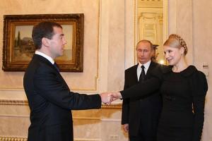 Ioulia Timochenko, Vladimir Poutine et Dmitri Medvedev en 2009 // CC BetacommandBot