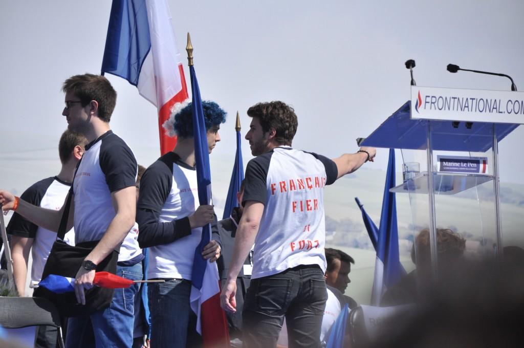 Julien Rochedy lors du meeting du 1er mai 2012. (Photo : Blandine Le Cain / Licence CC)