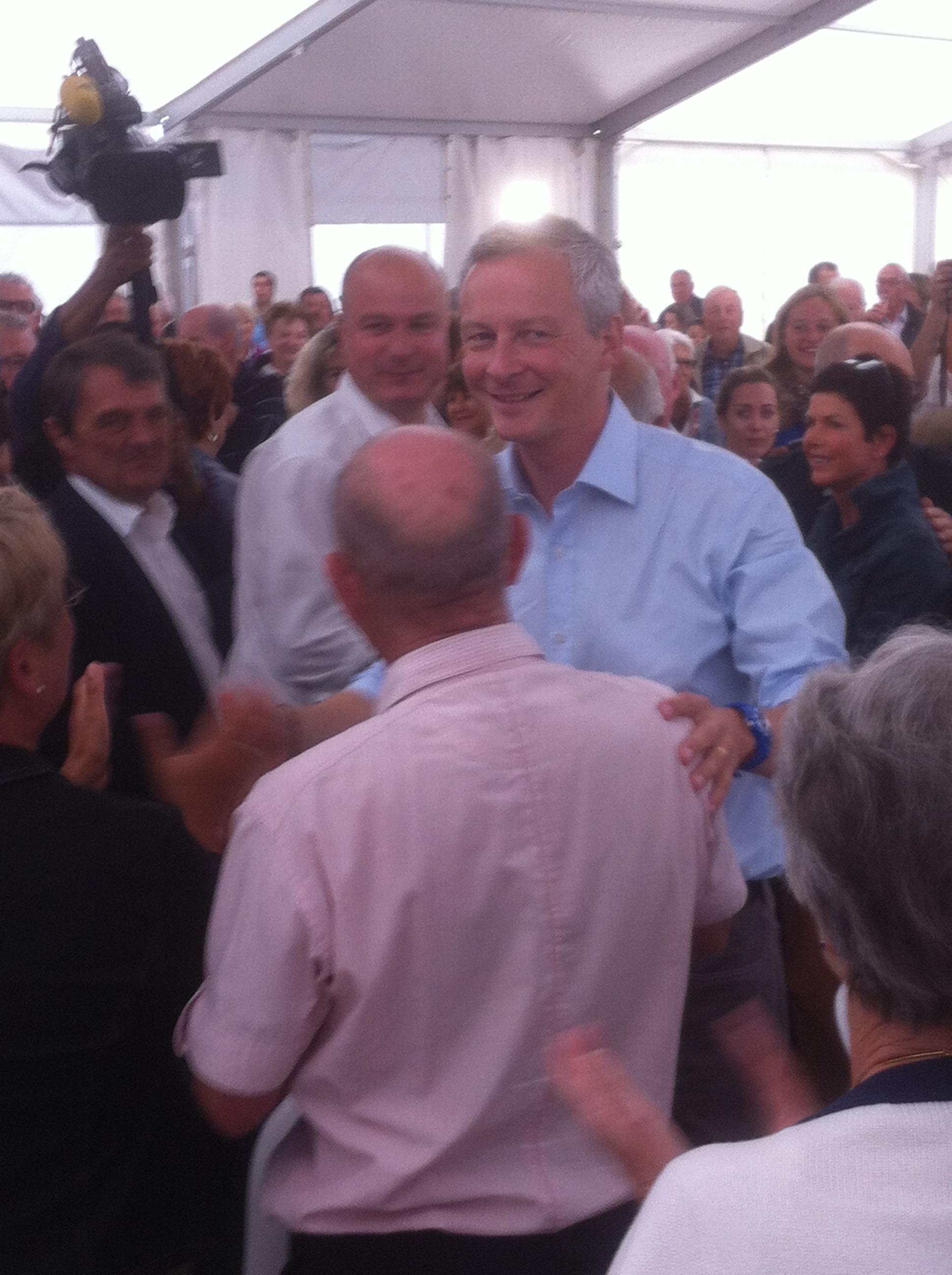 Bruno Le Maire à Carnac, le 24 août 2014 ( © C.B. / ParlonsInfo)