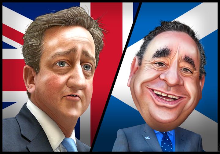 Lequel de ces deux hommes a réellement remporté le référendum écossais? (Image : DonkeyHotey /Licence CC)
