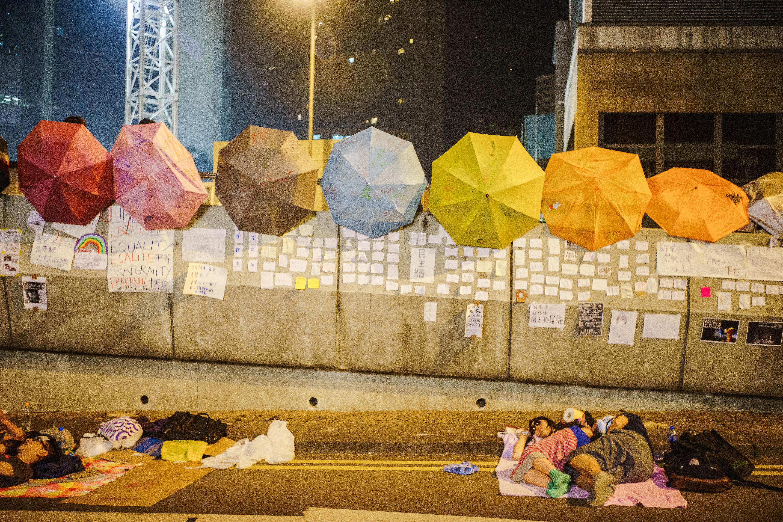 Les parapluies sont devenus le symbole du mouvement de protestation à Hong Kong (Image : Leung Chin Yau Alex / Licence CC)