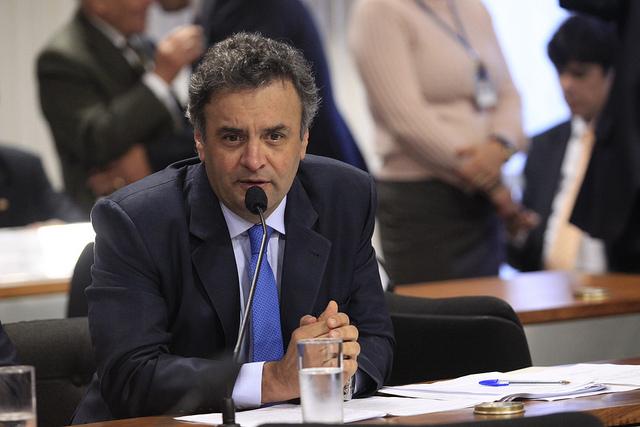 Aecio Neves, le candidat du Parti Social-Démocrate Brésilien ( George Gianni / PSDB / Licence CC )