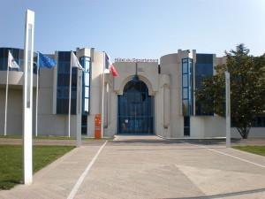 Entrée du Conseil Général de l'Hérault, Avril 2009 (Licence CC)