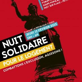 La république qui ne lâche rien avec la Nuit Solidaire pour le Logement