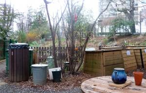 Un jardin partagé dans le XIIe arrondissement où se pratique le compostage