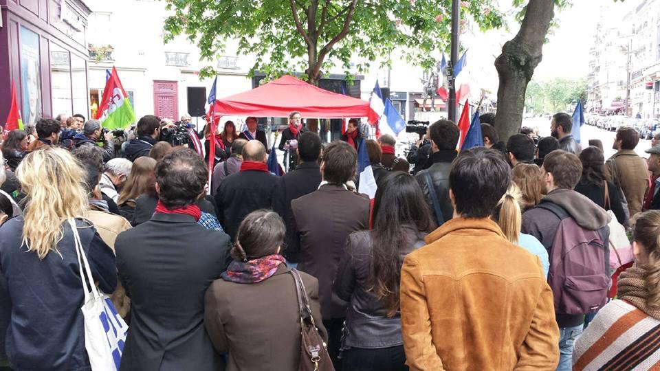 Lors du discours de Jean-Luc Mélenchon (photo page Facebook - Jean-Luc Mélenchon)