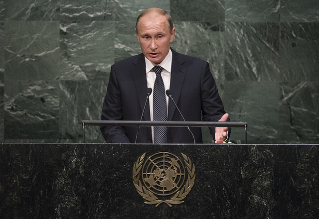 Vladimir Poutine à la tribune de l'ONU (Image : UN Photo/Cia Pak / Licence CC)