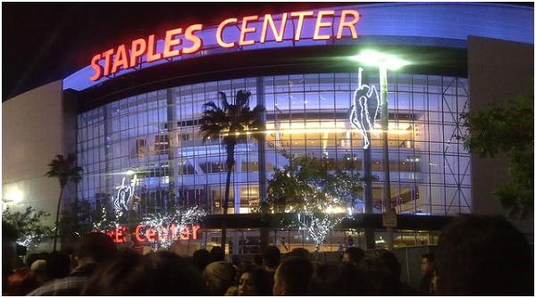 Le mythique Stade du Staples Center des Los Angeles Lakers.