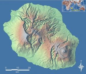 Carte Ile de La Réunion - source Conseil Régional Reunion