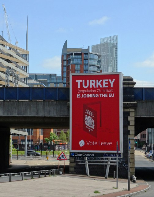 Affiche en faveur du Brexit ( Image :  Neil Theasby / LIcence CC)