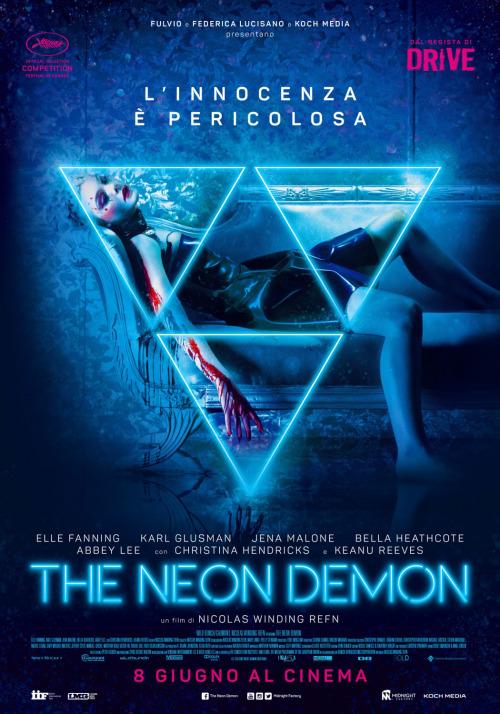 """Affiche italienne pour """"The Neon Demon""""."""