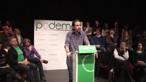 Pablo Iglesias, leader de Podemos, Licence CC par Podemos
