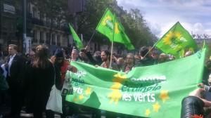 Cortège du parti d'Europe Ecologie Les Verts