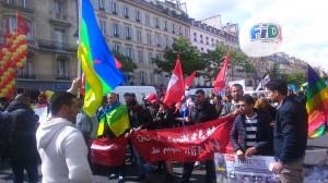 Cortège en soutien au peuple rifain, ethnie berbère du nord du Maroc, victime de discrimination