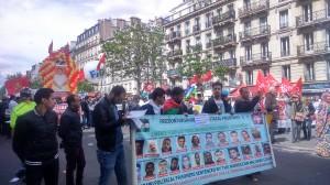 Cortège pour la libération des 21 prisonniers politiques sahraouis de la prison de Salé au Maroc