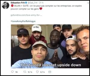 Tweet de Sebastien Frit relayant une vidéo récapitulative de la situation - CC Twitter