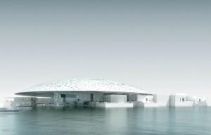 Le louvre Abu Dhabi sur l'île de Saadiyat aux Emirats Arabes Unis Source : louvre.fr