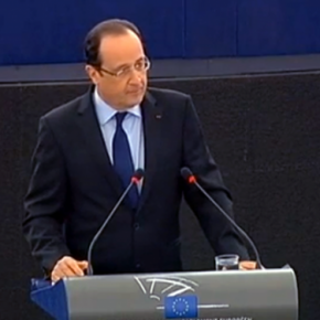 François Hollande face aux députés européens