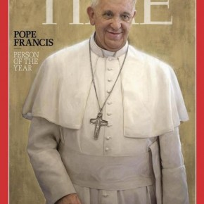 """Le pape François élu """"personnalité de l'année 2013"""""""