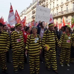 Une partie de la gauche dans la rue contre le gouvernement socialiste